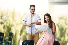 Young Couple Traveling Stock Images