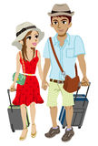 Young couple traveller, Isolated Royalty Free Illustration