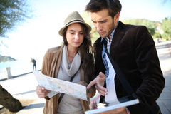 Young couple travelling and sightseeing Stock Image