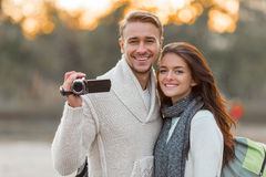 Young couple travels Stock Photography