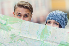 Young couple travels Stock Image