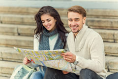 Young couple travels Royalty Free Stock Image