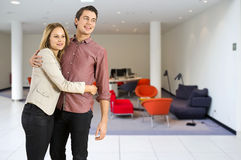 Young couple in trendy interior Stock Photo