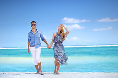 Young couple on a tropical island Royalty Free Stock Photography