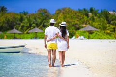Young couple during tropical vacation Royalty Free Stock Image