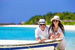 Young couple during tropical vacation Royalty Free Stock Photo