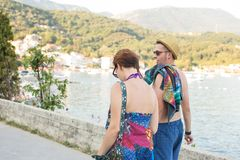 A young couple on vacation Royalty Free Stock Images