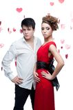Young couple on valentine's day Stock Photography