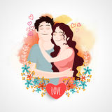 Young couple for Valentine's Day celebration. Royalty Free Stock Photos
