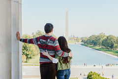 Young Couple Visiting Washington DC Royalty Free Stock Photography
