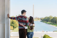 Young Couple Visiting Washington DC Royalty Free Stock Photo