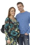 Young couple waiting for a baby Stock Images