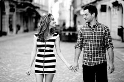 Young couple walking Stock Photo