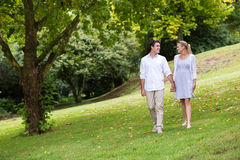 Young couple walking Stock Photography