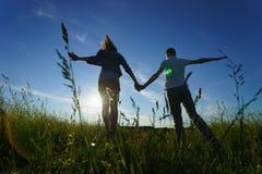 Young couple walking Stock Photo