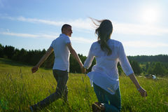 Young couple walking Royalty Free Stock Photo
