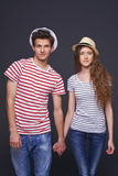 Young couple walking Royalty Free Stock Image