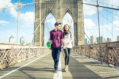 Young couple walking in New york Stock Image