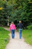 Young couple walking together Royalty Free Stock Photo