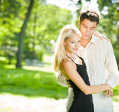 Young couple walking together Stock Image