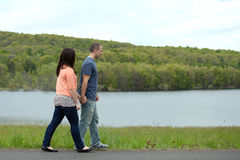 Young Couple Walking Together Stock Photos