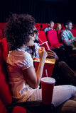 Young couple watching a 3d film Stock Images