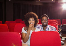 Young couple watching a film Stock Image