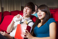 Young couple  watching a movie Stock Photography