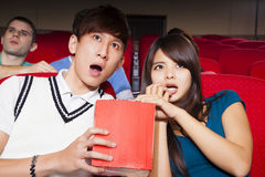 Young couple  watching a movie Royalty Free Stock Image