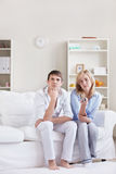 Young couple watching TV Royalty Free Stock Photo