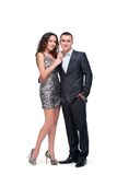 Young couple wear evening dress and suit Stock Image