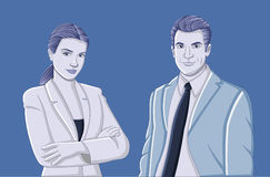 Young couple wearing suit. Royalty Free Stock Images