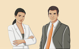 Young couple wearing suit. Royalty Free Stock Photo