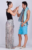 Young couple. Wearing summer colthes Royalty Free Stock Images