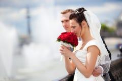 Young couple wedding Stock Photography