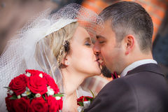 Young Couple After Wedding Ceremony stock image