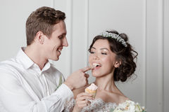 Young couple in wedding Royalty Free Stock Image