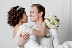 Young couple in wedding Royalty Free Stock Photos