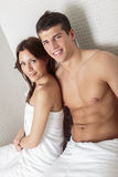 Young couple in wellness center Stock Image