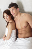 Young couple in wellness center Royalty Free Stock Photo