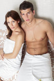 Young couple in the wellness center Royalty Free Stock Photography