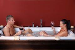 Young couple on wellness program Stock Photography