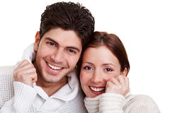 Young couple in winter Royalty Free Stock Photography