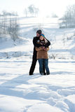 Young couple in winter. Winter collection: young couple in winter Royalty Free Stock Photos