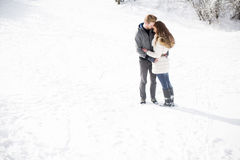 Young couple at winter Royalty Free Stock Image