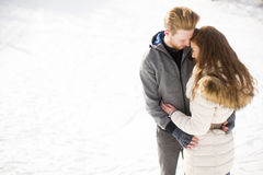 Young couple at winter Stock Photo