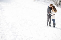 Young couple at winter Stock Photos