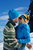 Young Couple In Winter  Snow Scene Royalty Free Stock Images