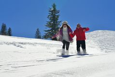 Young couple on winter vacation Royalty Free Stock Photo