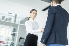 Young couple working in the office Royalty Free Stock Photography